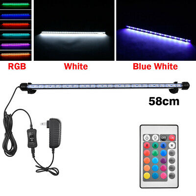 Waterproof Strip Light Aquarium Fish Tank LED SMD RGB Bar Lamp Lighting 58cm