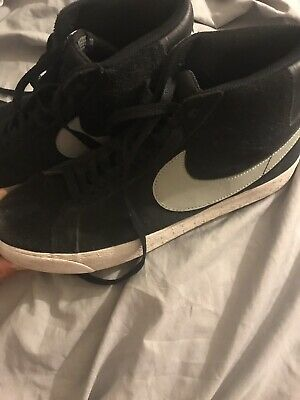 competitive price 728fa ad3ef Mens Sz 10.5 Nike SB Blazer Premium SE Skate Shoes Black White Suede Blazer  Mid