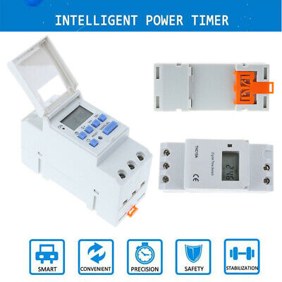 DIN Rail Digital LCD Power Programmable Timer DC 110V 16A Time Relay Switch