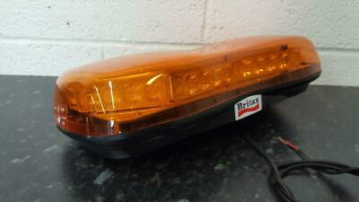 Britax A481 LED mini lightbar amber flashing warning beacon light 12/24V bolt-on