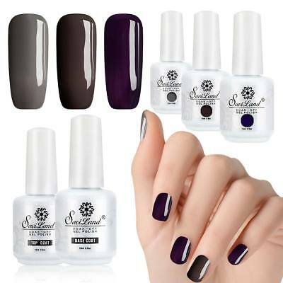 Saviland 3PCS GELISH Harmony Soak Off Gel Nail Polish FOUNDATION Base &Top Coat