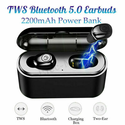 Bluetooth 5.0 Headset Mini TWS Wireless Headphone Stereo Earphones Earbuds Twins
