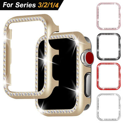 Alloy Bumper Bling Diamond Protector Case Cover For Apple iWatch Series 4 3 44mm