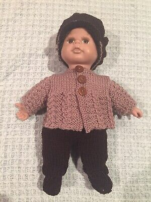 Hand Knitted Dolls Clothes For 11 Inch Boy Doll