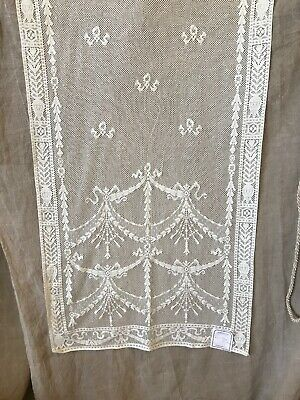Laura Ashley Victorian style Cream cotton lace curtain panel 65/130cms Nos