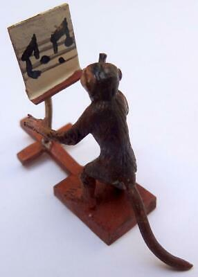 Cold Painted Bronze Vintage Austrian Monkey Band Member Miniature