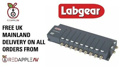 Labgear LDA2081LR 6-Way 2 In 8 Out TV & Radio Distribution Amplifier