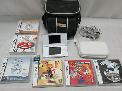 Nintendo DS Lite Handheld Games Console With Games Mario Slam Basketball Pokemon