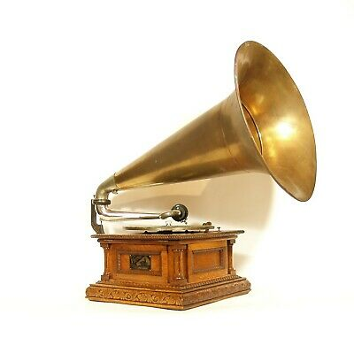 """1903 Victor Monarch Special Phonograph w/24"""" Brass Horn * Gorgeous * Works Great"""