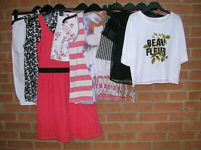 ZARA MAYORAL BENETTON BENCH H&M etc Girls Bundle Tops Dress Shorts Age 11-12