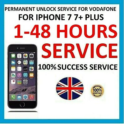 Factory Unlock Code service For Vodafone UK iPhone 7 7+ 6S 6S+ 6 6+ 5SE