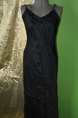 Vintage Antique 1920s 1930s 1940s Flapper  Black Slip Dress - S/M