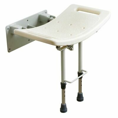 Wall Mounted Fold Up Shower Bath Seat Bench Disability Bathing Aid WITH LEGS
