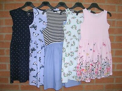 H&M Girls Summer Bundle 5 x Cotton Dresses dress  Age 8-9