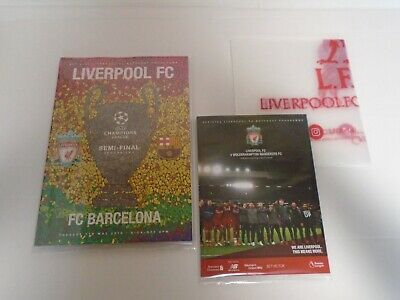 Liverpool V Barcelona - Champions League Semi Final May 2019 & Wolves Programmes
