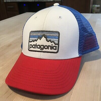0509f84803600c Patagonia Line Logo Badge Lopro Trucker Hat - New Without Tags - White  Spring 17