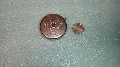 1950s=MECHANIC'S PAL =Silver Tone= Metal Round Rule Tape 6 ft  =USA= NR