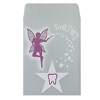 Tooth Fairy Envelopes Peel and Seal | 120gsm 92x68mm 100% Recycled Paper