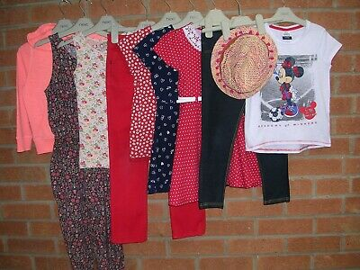 NEXT TU MINNIE MOUSE etc Girls Bundle Jeans Tops Dress Jacket Hat Age 6-7 122cm