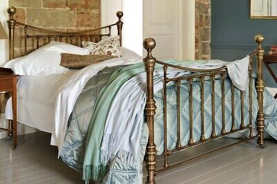 And So To Bed London Austen Victorian Antique Brass Bed & Mattress 5Ft King Size
