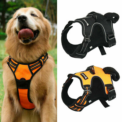 No Pull Dog Vest Harness 3 Size with Handle Easy On and Off Adjustable Collar UK