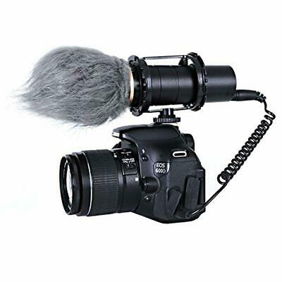 WS1 Furry Outdoor Microphone Windscreen Muff for Small Compact Microphones