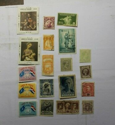 """Reduced Price! Vintage World Stamps """"P"""" Countries D646 Free Shipping USA"""