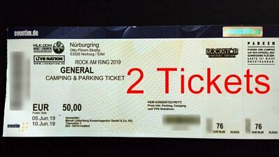 2x Rock am Ring 2019 General Camping & Parking Ticket