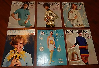 Lot Of 6 Knitking Magazines 1967 & 1968 Vol 4 No 1 2 3 4 5 & 6 Knitting Vintage