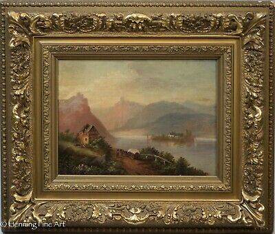 Stunning Antique Hudson River Valley School Oil Painting on Canvas, Fine & Nice