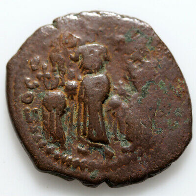 Byzantine Coin Ae Follis Heraclius 610-641 Ad Constantinople-Double Struck