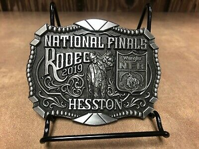 "NEW!!!!  2019 Hesston National Finals Rodeo ""Adult"" Belt Buckle"