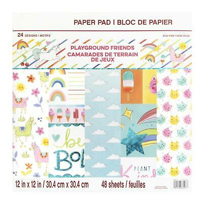 Craft Smith Design-Papierblock 30,4 x 30,4cm (48 Blatt) - Playground Friends