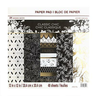 Craft Smith Design-Papierblock 30,4 x 30,4cm (48 Blatt) - Classic Chic