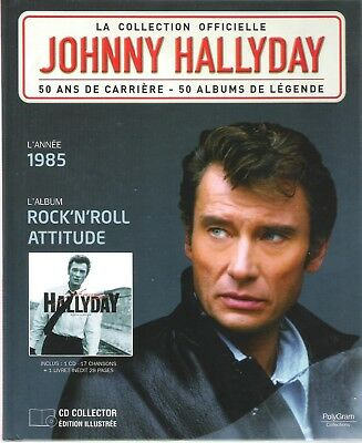 Johnny Hallyday - La Collection Officielle - Rock'n'roll Attitude - Cd/Livre