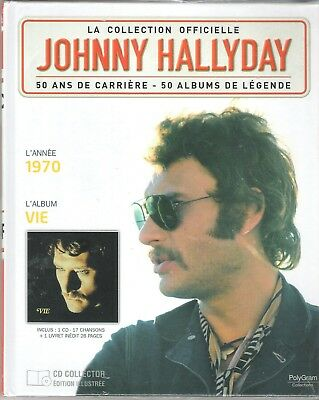 Johnny Hallyday - La Collection Officielle - Vie - Cd/Livre Neuf Sous Blister