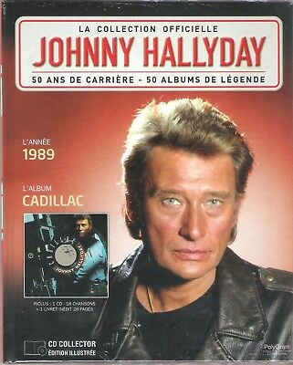Johnny Hallyday - La Collection Officielle - Cadillac - Cd/Livre Neuf/Blister