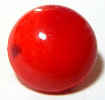 ANTIQUE 19th CENTURY VICTORIAN DEEP RED SWIRLED GLASS CHARM STRING BUTTON