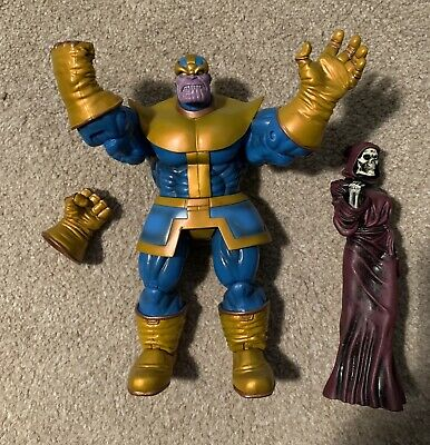 """Marvel Select THANOS figure with """"Death"""" statue and Infinity Gauntlet"""