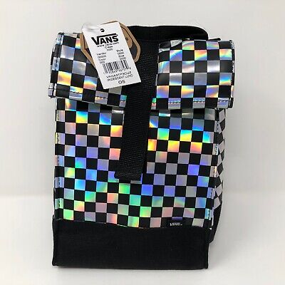 008330a4d NWT Vans Shoes Iridescent Checkerboard Lunch Bag Sack Tote Shiny School  Carry