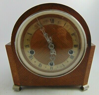 Enfield Clock Company Art Deco Striking Mantle Clock With Key