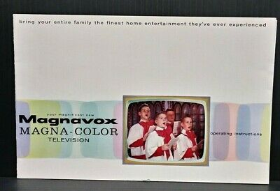 Vintage Magnavox Magna Color TV Television Owners Operating Instruction Manual