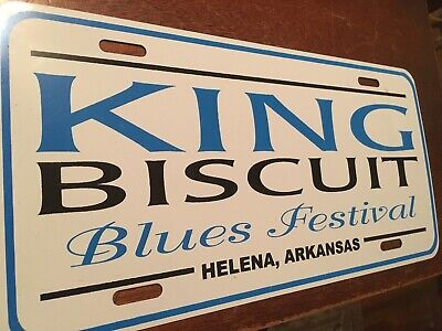 King Biscuit Blues Festival License Plate Car Tag, Helena Arkansas