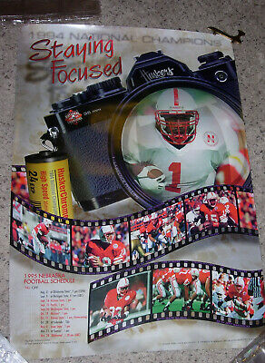 1995 Nebraska Cornhuskers Huskers Official Football Schedule Poster - Offense