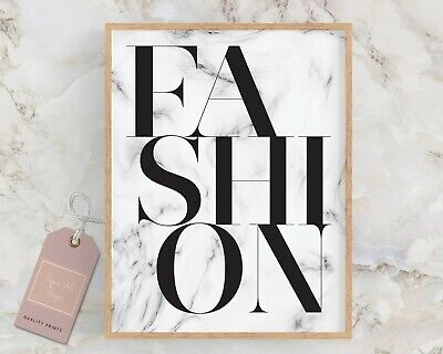Fashion Wall Art Marble Poster Home Decor Bedroom Make Up Room Dressing Room Art