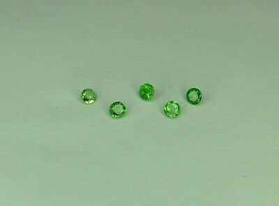0.28cts 5x Small Tsavorite Garnet, green. approx 2mm round