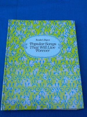 Reader's Digest POPULAR SONGS THAT WILL LIVE FOREVER  Sheet Music 1982
