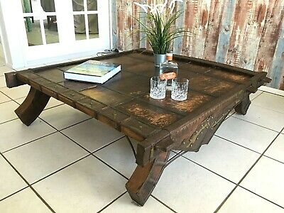 Antique Sri Lankan Ox Cart Coffee Table