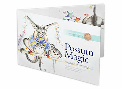2017 $1 $2 1c Possum Magic Uncirculated Collection Eight Coloured Coin Set
