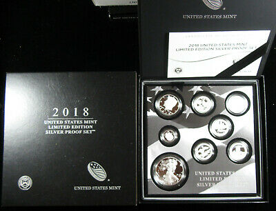 2018-S United States Mint Limited Edition Silver Proof Set - 18RC. (519)